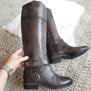 Vince Camuto Charcoal Tall Riding Boots 7/37
